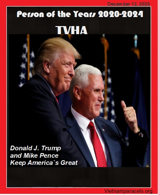 Donald Trump and Mike Pence named TVHA`S Person of the years 2020-2024 | Keep America`s Great