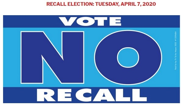 vote no recall westminster, california, usa