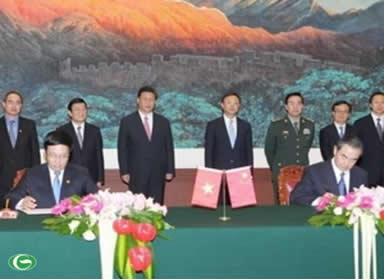 lễ ký tuyên bố chung việt nam trung quốc ngày 21-06-2013 tại bắc kinh